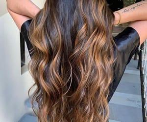 brown hair, girl, and hair image
