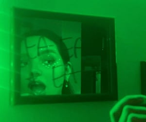 aesthetic, green light, and inspo image
