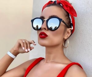 beauty, red, and shades image