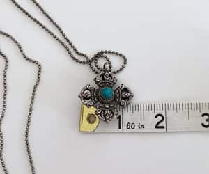 coral, etsy, and repousse pendant image