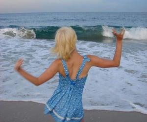 beach, blonde, and ocean image