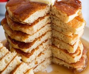 food, pancake, and sweet image