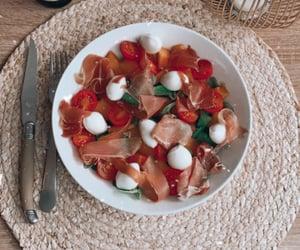 eat, melon, and mozzarella image