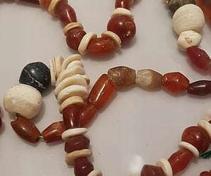 beads, neckless, and red image