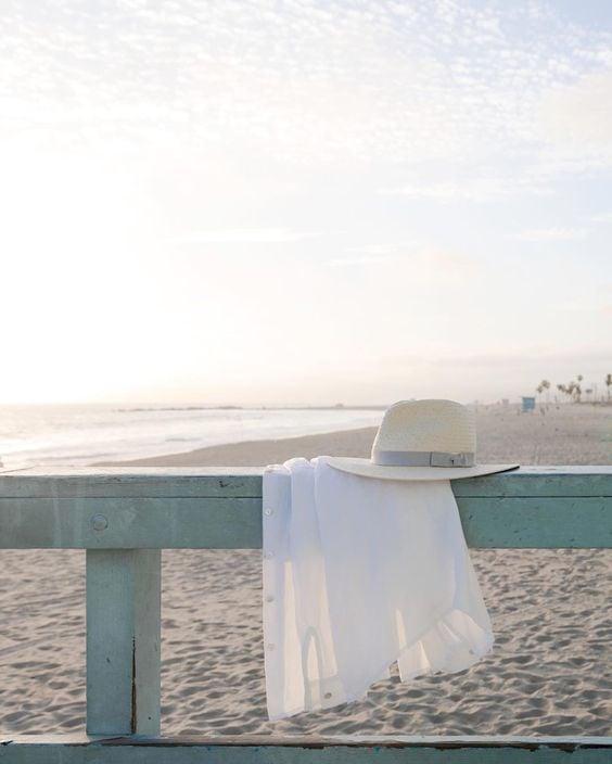 beach, beautiful, and hat image