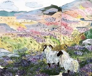 art, nature, and sheep image