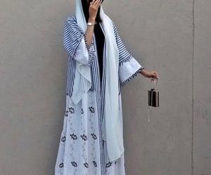 arab, modest, and abaya image