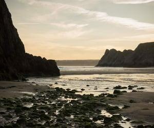 coast, landscape, and rocks image