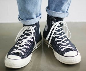 aesthetic, blue, and converse image