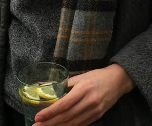 aesthetic, coat, and drink image
