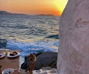 beach, food, and greek island image