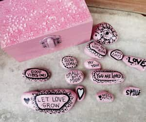 pink, stone art, and painted stones image