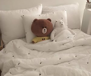 aesthetic, bed, and white image