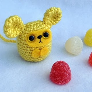 Amigurumi yellow rat toy with candy cute crochet mouse stuffed ...   320x320