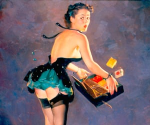 1950, pin up girls, and gil elvgren image