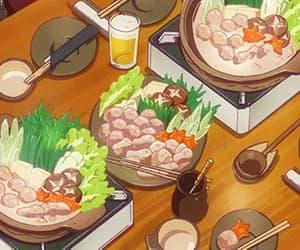 anime, gif, and food anime image