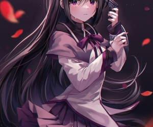 art, crying, and purple eyes image