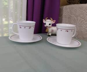 cup and saucer, etsy, and set of 2 image