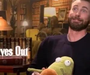 funny, avocado, and chris evans image