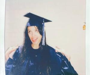 brunette, girl, and graduation image