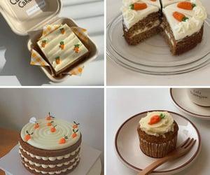 cake, carrot, and comida image