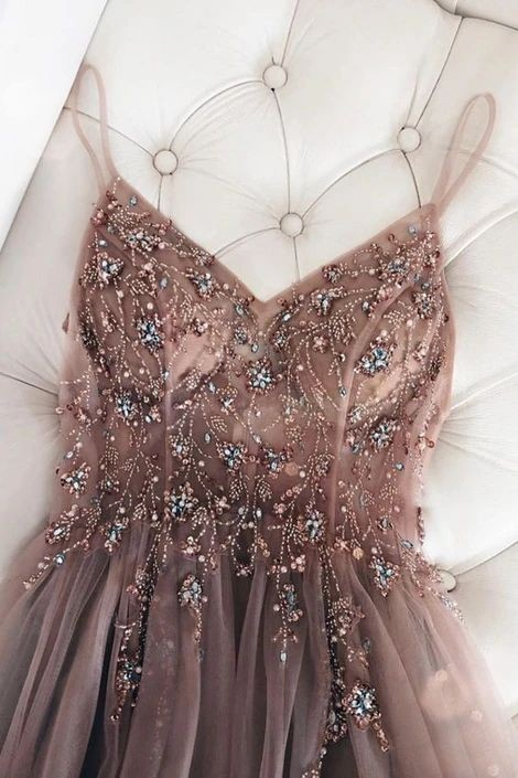 aesthetic, dusty pink, and prom dress image