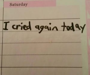 diary, journal, and cried image