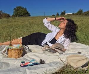 basket, book, and girl image