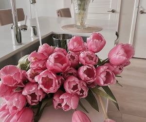 decor, floral, and flowers image