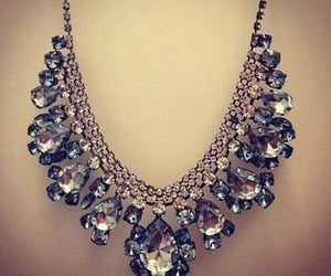 necklace, diamond, and glam image