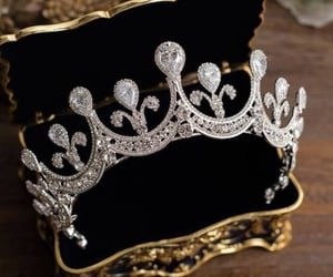 antique, crown, and vintage image