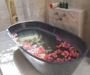 bathtub, jacuzzi, and relaxing image