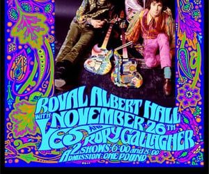 cream, rory gallagher, and psychedelic art image