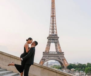 city, paris, and relationships image