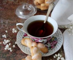 coffee, flowers, and teatime image