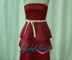 informal dress, strapless, and tiered image
