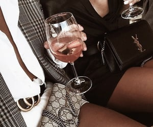 best friends, drink, and fashion image