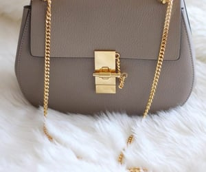 bags, golden, and grey image