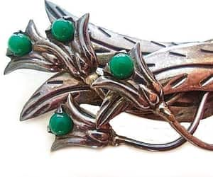 Art Nouveau, handcrafted, and gemstone brooch image