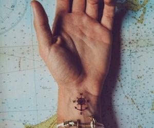 compass, travel, and tatoo image