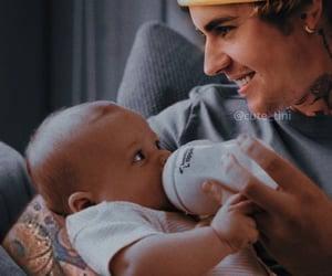 babies, dad, and JB image