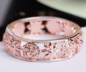 online shopping and rose gold image