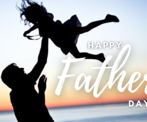 child, dad, and happy father's day image