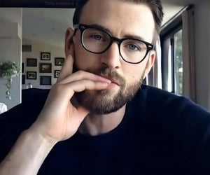 chris evans, glasses, and look image