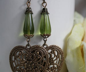 etsy, vintage earrings, and fairy necklace image