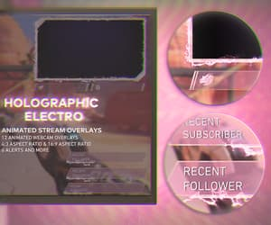https://www.behance.net/gallery/121926033/Holographic-Electro-Animated-Stream-Overlays-
