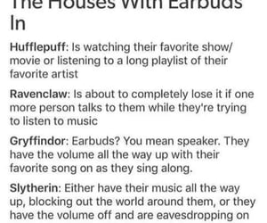 earbuds, harry potter, and gryffindor image