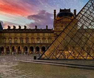 Colorful Skies over the Louvre Museum Paris