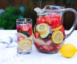 Fruit Infused Water (lemon, berries & watermelon) a refreshing alternative to sugary sodas and cocktails ~