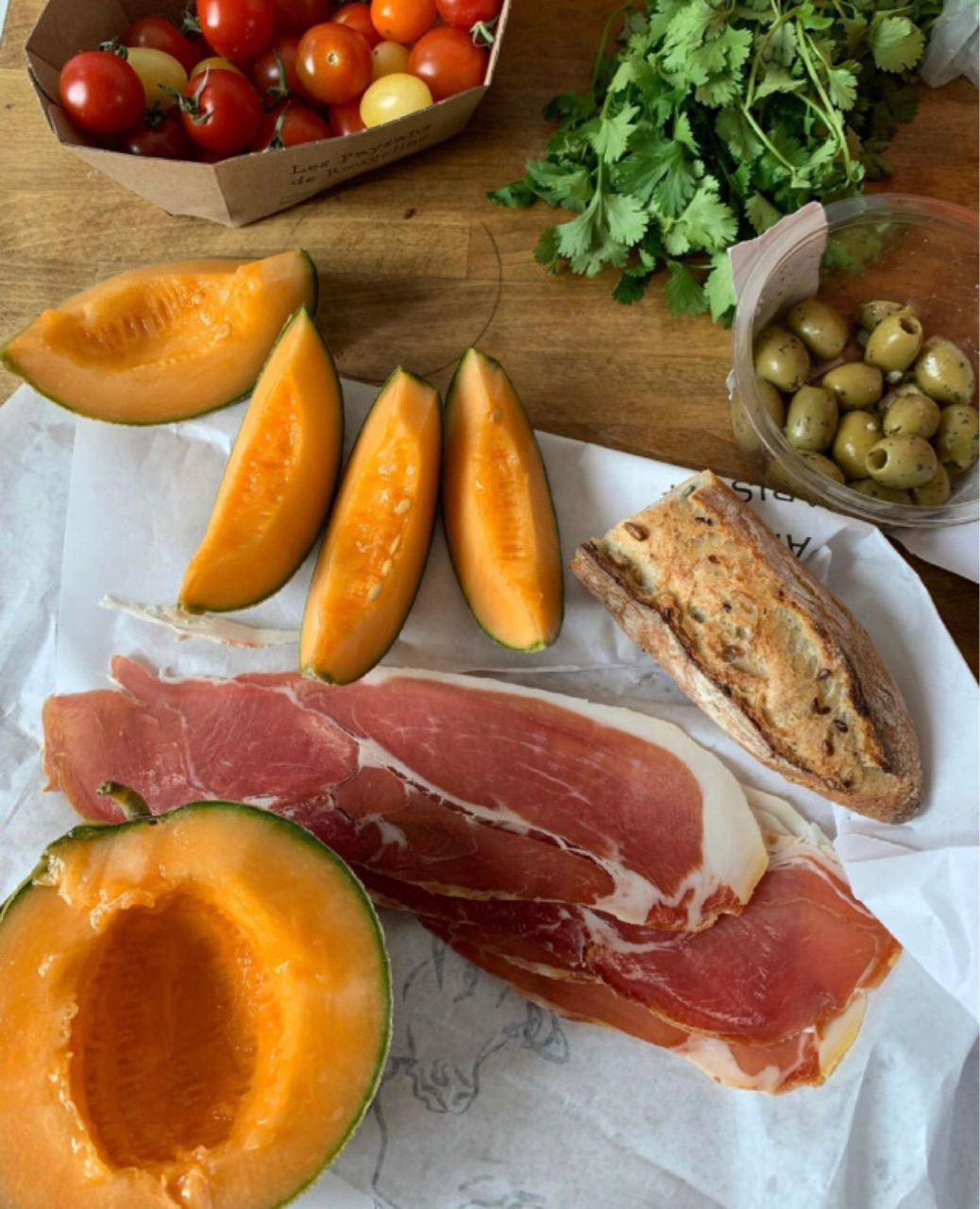 food, ham, and italy image